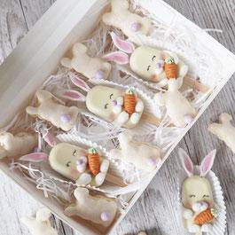 Osterhasen Macarons und Cakesicles