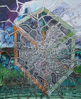 Energie, 2013, Mixed Media auf Leinwand, 0,5 x 0,4 m