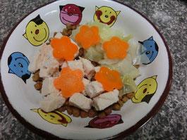 *誕生日プレート♪(コロコロチキンと温野菜)