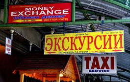 Kyrillische Schrift in Thailand