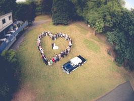 Hochzeit Luftbild