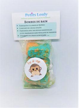 Petits Louly, Etsy Québec, Bombe de bain, pet de singe