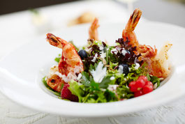 Landgasthof Kleiner Salat mit Garnelen