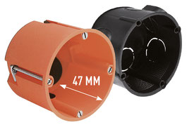 suitable flush-mounted box with a minimum depth of 47 mm