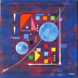 centrale. vue de face - daluz galego tableau abstrait abstraction