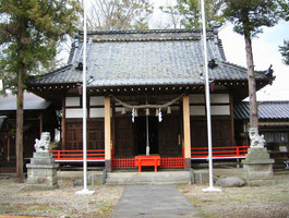 荒神宮参上神社(長野県上田市) 今井兼平の碑がある。