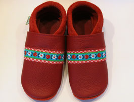 romantische rote Lederschuhe Mädchenschuhe
