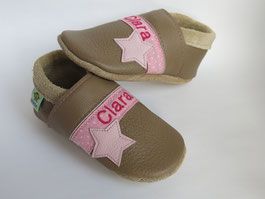 Taufschuhe, Schuhe mit Namen, Krabbelschuhe personalisiert, Taufschuhe, nach Maß,  schmalle Füße,