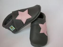 Sterne Lederschuhe Mädchenschuhe, Krabbelschuhe nach Maß, Babyschuhe, Lauflernschuhe, Puschen