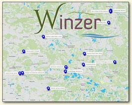 Portalbild Übersichtskarte Lausitzer Weinfreunde