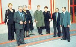 De izquierda a derecha: Sra. Helena Aixelà (asesora jurídica de la asociación Inter-Sos), Sr. Cayetano Jiménez (Presidente de AFADECAM) y su esposa, Sr. Salvador Domínguez (presidente de Adesepa), Sra. Luisa Vera, Sra. Concepción Casanova, Sr. Manuel Jaim