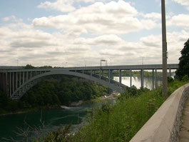 Niagara River with Rainbow Bridge