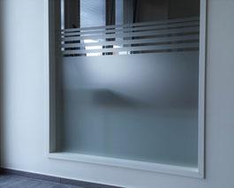 Milchglasfolie im Officebereich