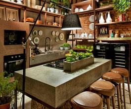 Beton Küchenarbeitsplatte