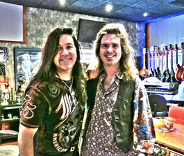 Mark Slaughter & me at WireWorld Studio (Nashville/USA) in 2015