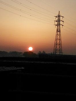夕日…♪沈むギリギリまで輝くんだ。