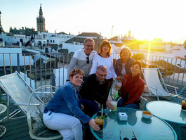 Visite guidée sur les toits/ rooftop/ Terrasse séville,  tour sevilla, Séville