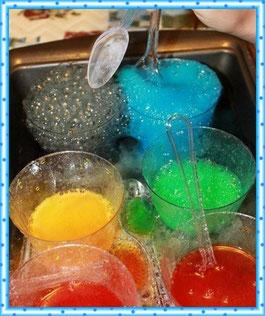 Готовим разноцветную шипучку