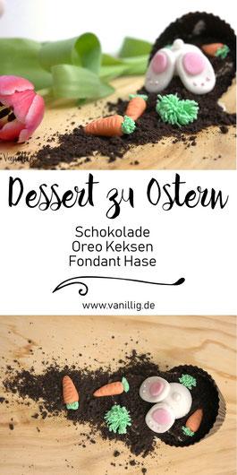 einfache Idee zu Einrichtung vom Dessert zu Ostern