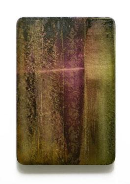 Utopischer Körper 59 (aurum) 2017 Acrylfarbe, Kunststoffsiegel, Ölfarbe auf MDF 60 x 40 cm