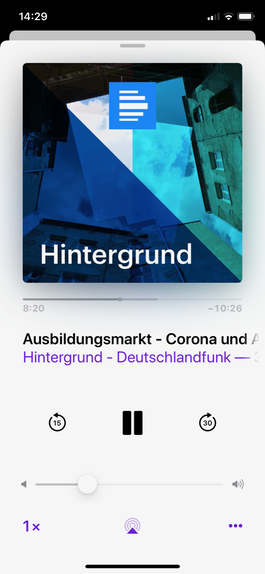 Screenshot Podcast Deutschlandfunk