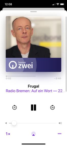 Screenshot von Auf ein Wort bei Radio Bremen