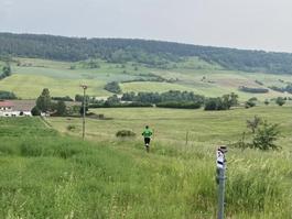 Es ist 9:36 Uhr - Norman ist auf den letzten Kilometern der zweiten Etappe.