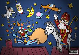 Van Bun Communicatie & Vormgeving - Internetgazet Lommel - Illustraties - Tekeningen - Grafisch ontwerp - Publiciteit - Reclame - Aankomst Sinterklaas
