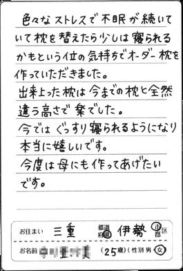 三重県在住20代女性