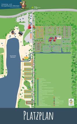 Platzplan des Camping- und Bungalowparks