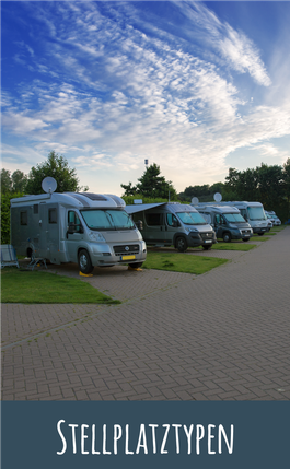 Stellplatztypen des Camping- und Bungalowparks