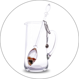Vita Juwel Glaskaraffen für die Edelsteinphiolen