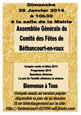Affiche : Comité des Fêtes / Béthancourt-en-vaux