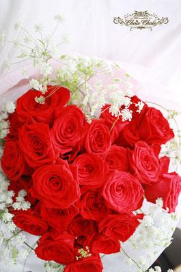 プロポーズ 花束 ミラコスタ 赤バラ ハート