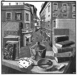 「静物と街路」1937年