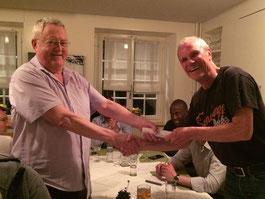 Ray receiving his certificate of honorary membership