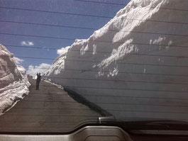 Fotostopp im Schnee
