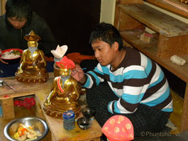 Bhutanese Traditional Painter- Phuntsho Wangdi
