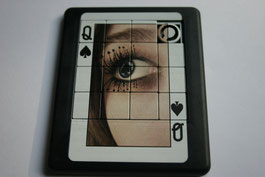 Sliding puzzle spades queen