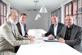 Walter Siepe, Robert Schäfer, Peter Barkowsky und Sven Kummert