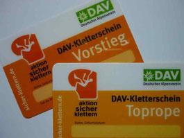 DAV Kletterschein Toprope / Vorstieg