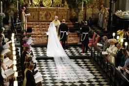 Mariage du prince Henry, duc de Sussex (dit Harry), et de Meghan Markle le 19 mai 2018 à la chapelle Saint-Georges à Windsor, au Royaume-Uni