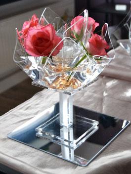 Acrylglas Dekoständer 11cm Höhe mit Set-01