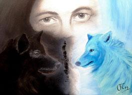 zwei Wölfe indianische Weisheit