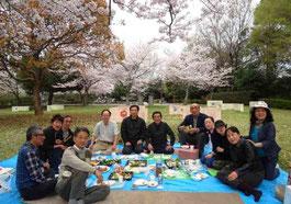 伊万里合唱団の花見(円造寺公園)