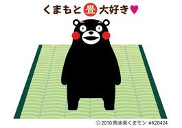 熊本県産畳人気キャラクターくまモン 国産畳おもて