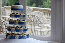 Cup Cakes, Hochzeitstorte, Hochzeitsfarbe Blau