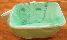 kompostierbare Tüten; Komposttoilette