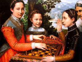 "Sofonisba Anguissola ""Three Sisters Playing Chess""   1555"