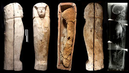 Sarcófago infantil hallado en Luxor. ©CSIC